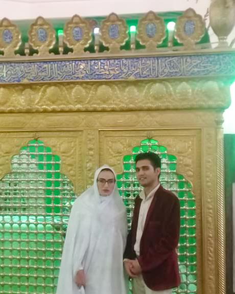 راتین و پروین در امامزاده خواجه ابو رضا (عبدالله) زرند